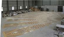 Dubai Mosque Project Indus Gold Marble Mosaic