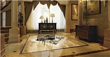 Elegant Waterjet Medallions for Living Room