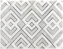 Greece Thassos Crystallina Marble Honed Mosaics