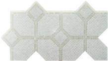 Italy Bianco Lasa Polished Marble Mosaic Tile