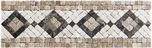 Light Emperador Marble Mosaics, Medallions, Border