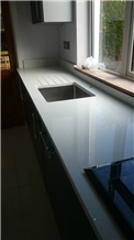 White Quartz Stone Kitchen Countertops,Benchtops