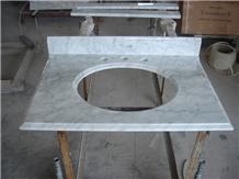 Guangxi White, China Carrara White Marble Bath Top