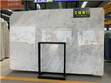 Iris White Marble Wall Floor Tiles Slabs