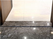 Morocco Grey Lido Tiflet Marble Threshold Stair