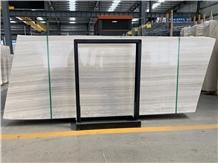 Silver Serpeggiante White Wood Grain Marble Slabs