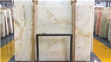 White Ice Jade Onyx ,Vanilla Onyx Slab for Project
