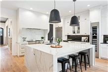 White Nano Crystallized Stone Kitchen Countertop