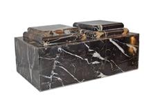 Black & Gold Natural Stone Companion Cremation Urn
