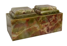 Green Onyx Natural Stone Companion Cremation Urn