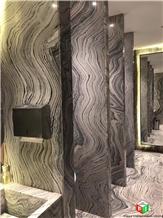 Beautiful Water Cloudy Grey Marble Slabs&Tiles