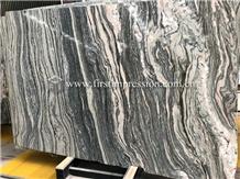 Beauty Water Cloudy Grey Golden Vein Marble Slabs