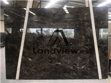 Olive Pearl Marble China Dark Emperador Slab