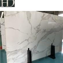 Artificial Marble Bianco Calacatta Polished Slab