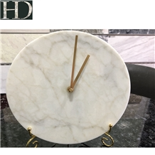 Chinese Marble Clock Artware Customize Cafts