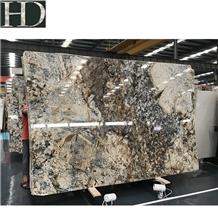 Phantom Golden Flower Granite Polished Slab Tile