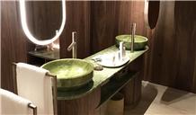 Natural Verde Ming Green Marble Hotel Vanity Tops