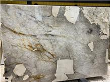 Patterned Patagonia Quartzite Slabs Blanc Du Blanc