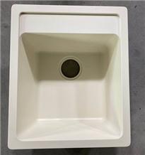 Semi White Quartz Stone Sink