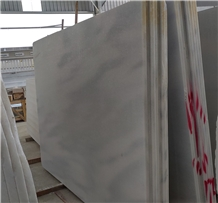Cloudy Vein White Crystal Marble Slab