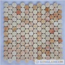 Small Circle Yellow Marble Mosaic