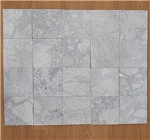 White Cloudy Marble Sanded Pool Paver/Pool Coping