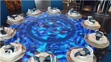 Blue Agate Restaurant Table Tops