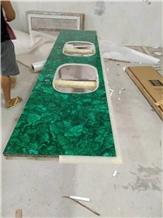 Chinese Factory Hot Sales Malachite Bathroom Countertop, Vanity Top