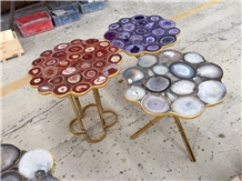 Gemstone Custom Furniture Cafe Table Tops