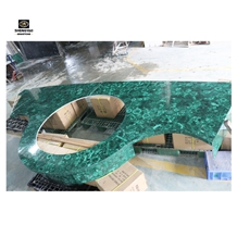 Green Malachite Used in Bathroom