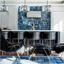 Kitchen Wall Decoration Natural Blue Agate