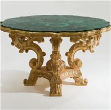 Luxury Precious Stone Malachite Inlay Table