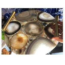 Natural Stone Crsfts Gemstone Tray
