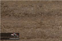 Chocolate Travertine Slab, Tile