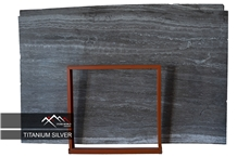 Silver Titanium Travertine Slab,Tile