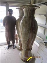 Multi Green Onyx Tall Vases