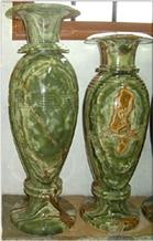 Onyx Flower Vases in Multi Green Onyx