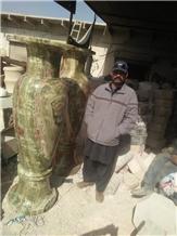 Onyx Medium Green Tall Vases