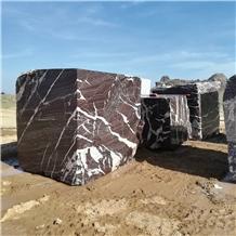 Rosso Golzar Marble Blocks