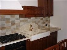 Italian Classic Beige Marble Kitchen Countertop