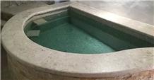 Mezza Perla Sfumata Blue Pool Coping