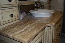 Idaho Travertine Bathroom Vanity Top