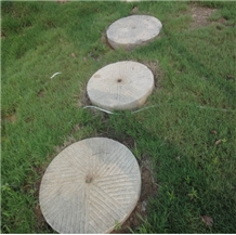 Antique Millstone,Roller,Trough,Old Stone