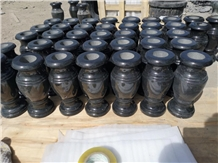 Black Granite Vases for Tombstone Factory Wholesel