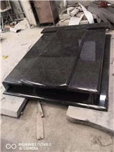 High Polish Beida Black Granite Monument Factory