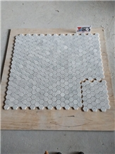 Carrara White Marble Hexagon Mosaic Wall Tile