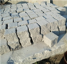 China Split Grey Granite Cobble Pavers
