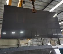 Dark Grey Black Engineer Quartz Big Slabs