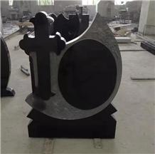 Romania Absolute Black Granite Cross Headstones