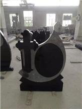 Romania Style India Black Granite Cross Headstone